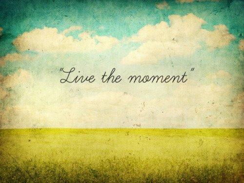Mon docteur m'a dit qu'on ne peut pas revenir sur le passer mais que on peut chaque jours vivre l'instant présent.