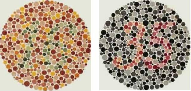 test de dépistage du daltonisme