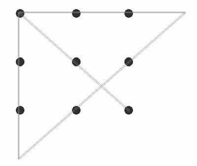 9 points suite le royaume des illusions d 39 optique - Relier 9 points avec 3 traits ...