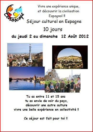 Les séjours à l'étranger 2012