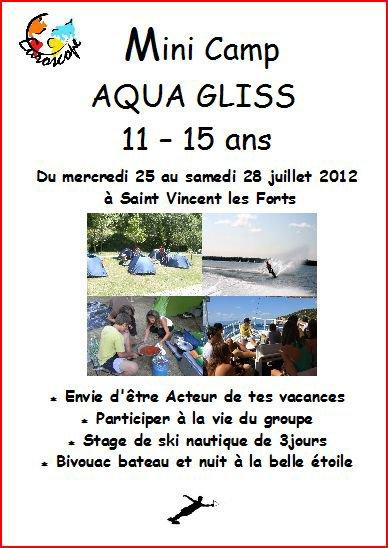 Camp à Saint Vincent Les Forts ados 2012, à la carte !!