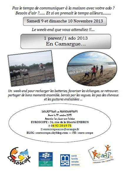 WEEK END PARENT ADO EN CAMARGUE LE 9 ET 10 NOVEMBRE