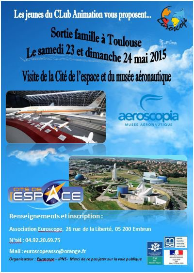 Week-end à Toulouse le 23 et 24 mai 2015 !