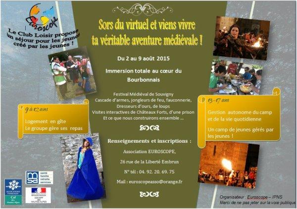 Séjour d'été dans le Bourbonnais du 2 au 9 août !