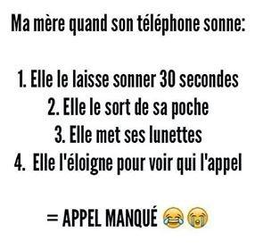 Ma mere et son téléphone