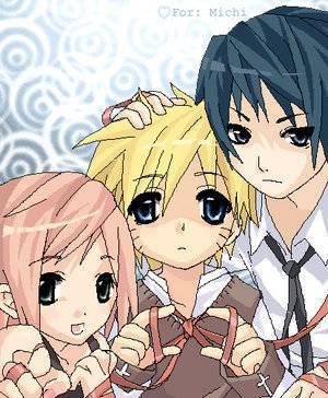 equipe n°7 sakura naruto et sasuke