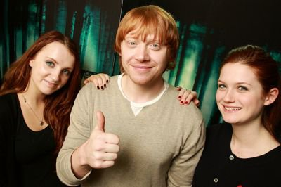 Evanna Lynch Rupert Grint Bonnie Wright