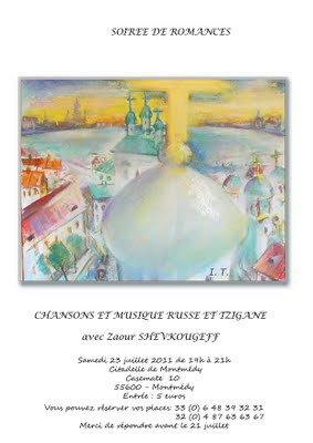 Chansons et musique russe et tziganes - Casemates 10 - 23 juillet