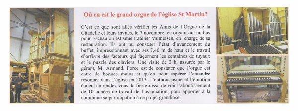 Orgue de l'église St Marthin