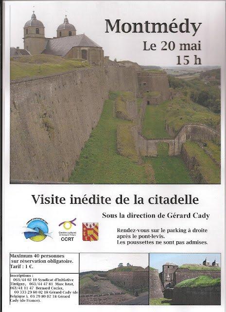 Visite inédite de la citadelle avec Gérard Cady le 20 mai