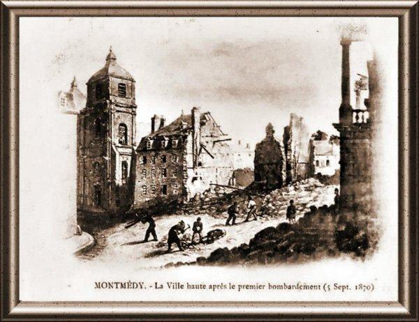 Premier bombardemant 5 septembre 1870