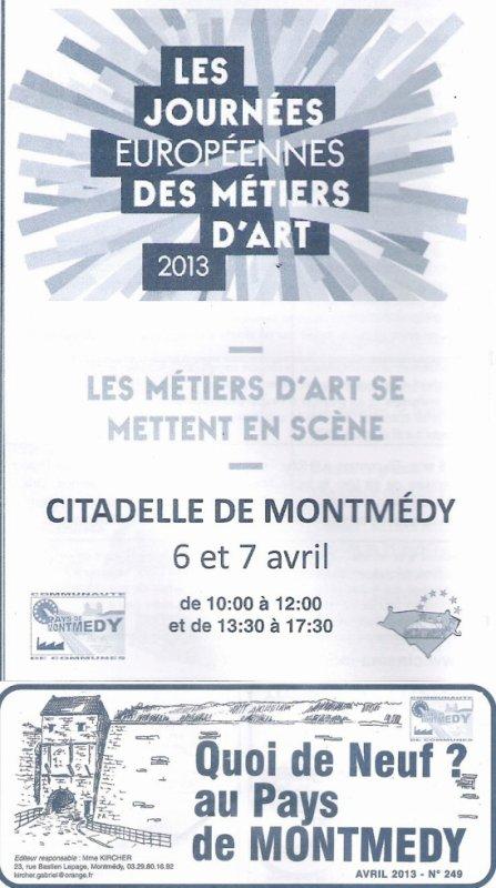 Les journées européenne des metiers d'art 2013