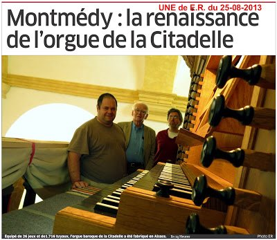 Renaissance de l'orgue de la Citadelle