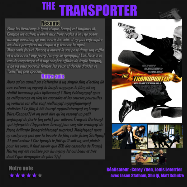 Article-films, The transporter (action)