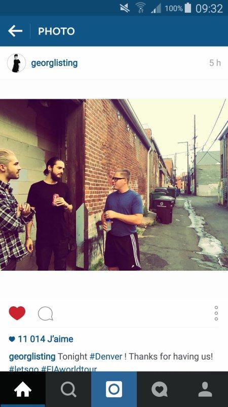 Instagram Billkaulitz et Georg Listing