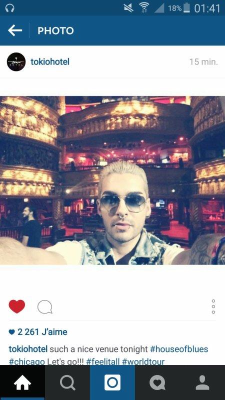 Instagram Billkaulitz et tokio hotel