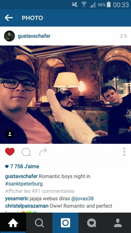 Instagram Billkaulitz, gustavschäfer et Georg Listing