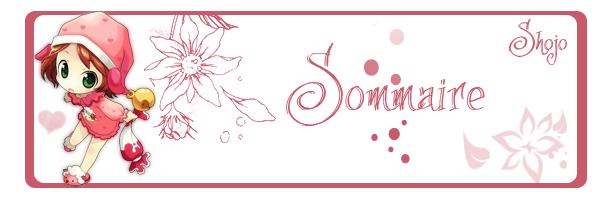 Sommaire Shojo.