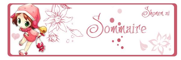 Sommaire Shonen-ai