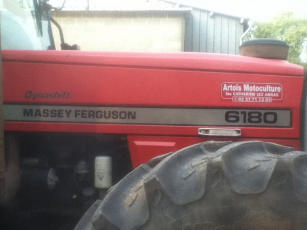 Massey Ferguson dynashift 6180 + plateau