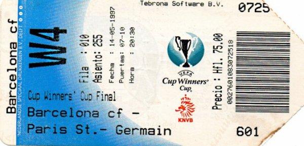 Finale Barcelone PSG 1997 C2 a Rotterdam