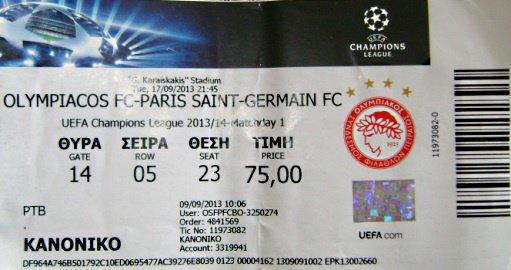 OLYMPIAKOS PSG Champions League 2013 2014