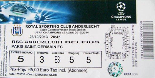 Anderlecht - PSG Champions League