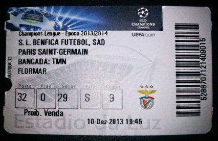 Benfica psg 2013