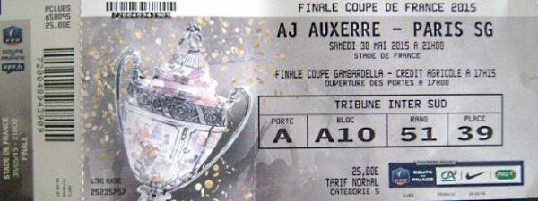 FINALE COUPE DE FRANCE 2015 AUXERRE PSG QUADRUPLE HISTORIQUE !