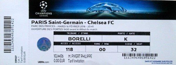PSG Chelsea 8 eme Final 2015 2016 C1