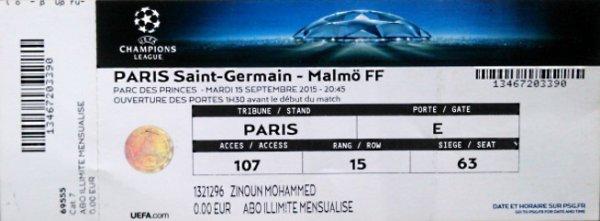 PSG Malmo 2015 2016 C1