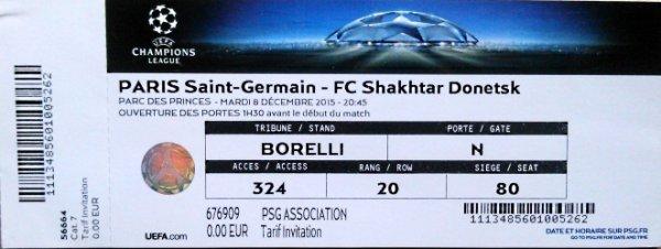 PSG Shakhtar Donetsk Champions league 2015 2016