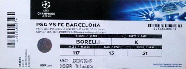 PSG Barcelona Champions League 2014 2015