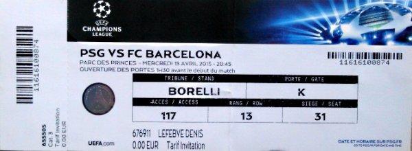 PSG Barcelone  Champions League 2014 2015