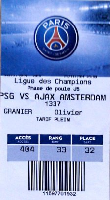 PSG Ajax Amsterdam champions league 2014 2015