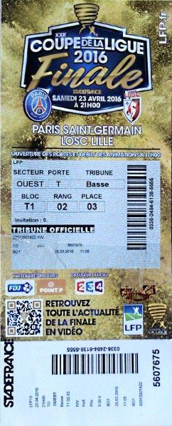 PSG LILLE Finale coupe de la Ligue 2016