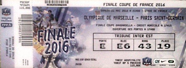 PSG MARSEILLE FINALE COUPE DE FRANCE 2016 AVEC NOMS EQUIPES