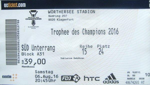 Trophée des champions 2016 à Klagenfurt PSG LYON