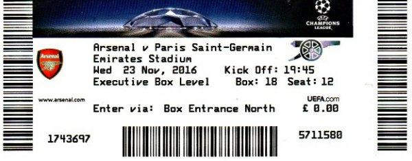 ARSENAL LONDON PSG PARIS ST GERMAIN 2016 - 2017