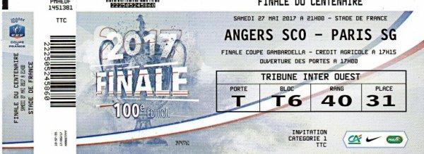 FINALE COUPE DE FRANCE 2017 SCO ANGERS PSG PARIS ST GERMAIN
