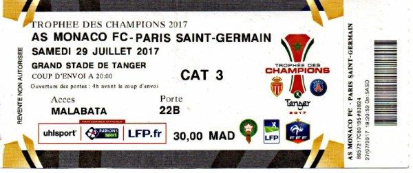 AS MONACO PSG  Trophée des champions 2017 à Tanger Maroc