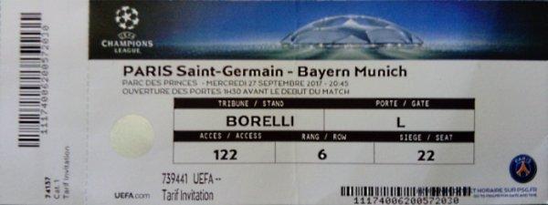 PSG Bayern Munich Champions league 2017 - 2018  3/0 Parc des Princes
