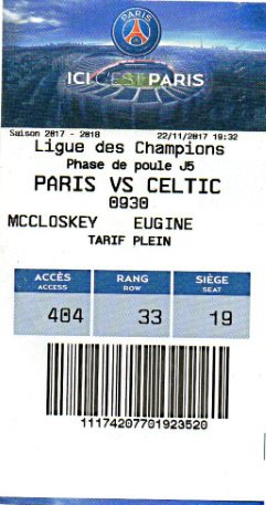 PARIS ST GERMAIN PSG CELTIC GLASGOW 2017 2018 CHAMPIONS LEAGUE