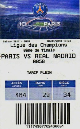 PSG PARIS ST GERMAIN REAL MADRID 2017-2018 8eme final CHAMPIONS LEAGUE