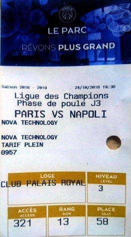 PSG SSC NAPOLI CHAMPIONS LEAGUE 2018 - 2019