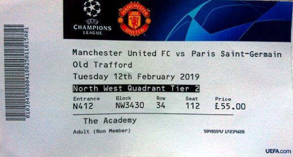 Manchester United PSG Paris Saint germain 2018 2019 Champions league