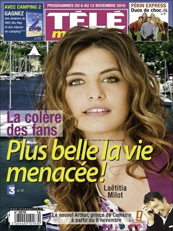 """. Laëtitia est à la une du nouveau """"Télé Magazine"""". ."""