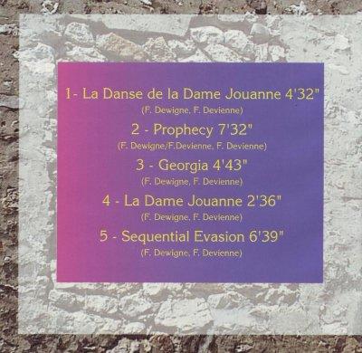 la pochette du  premier  CD !
