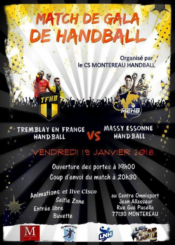 Gala de Handball Montereau 77 et live Cisco