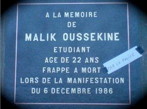 Malik Oussekine... t'aurais fété tes 50 piges cette année, on oubli pas... R.I.P.